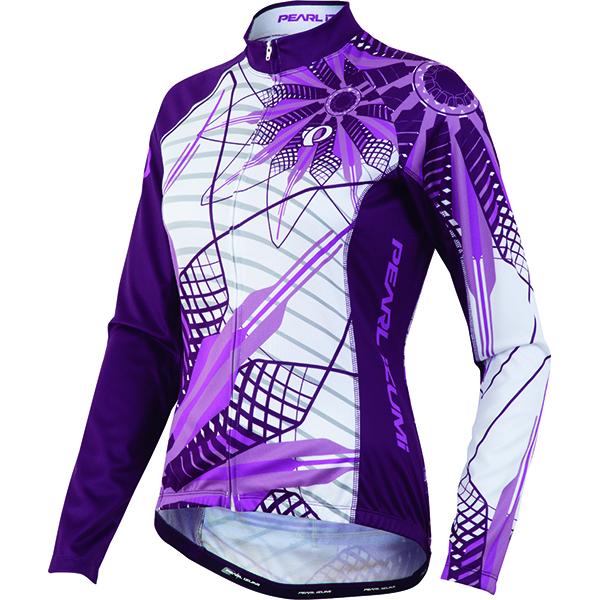 Pearl Izumi - Koszulka Dam Thermal Elite LTD wzór w fioletowe kwiaty L