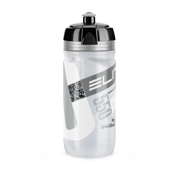 Elite Bidon Corsa szary - srebrne logo, 550ml