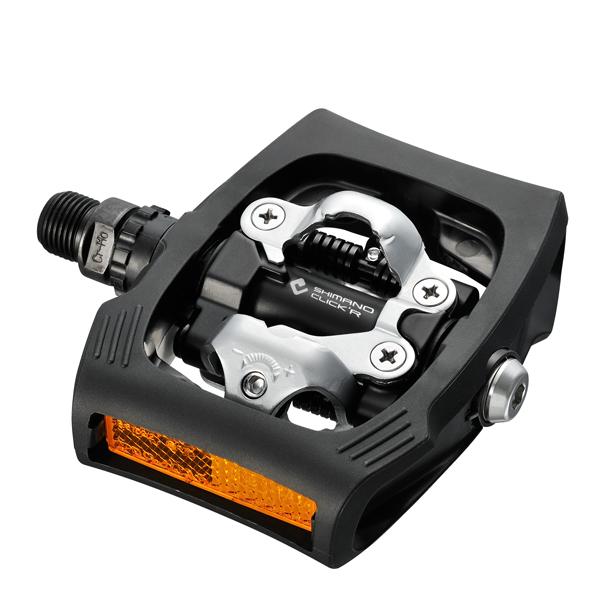 Shimano Pedały SPD PD-T400 + bloki i odblaski, czarne