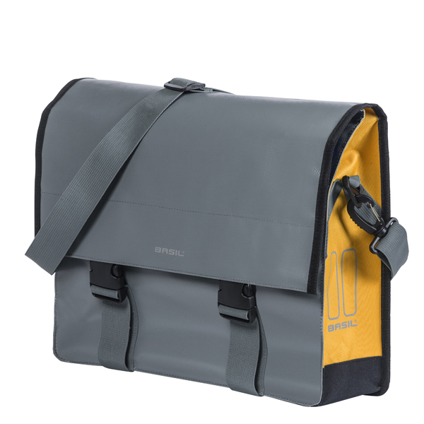 Basil  Sac De Vélo Urban Load Messengerbag 15/17L Gray/Gold