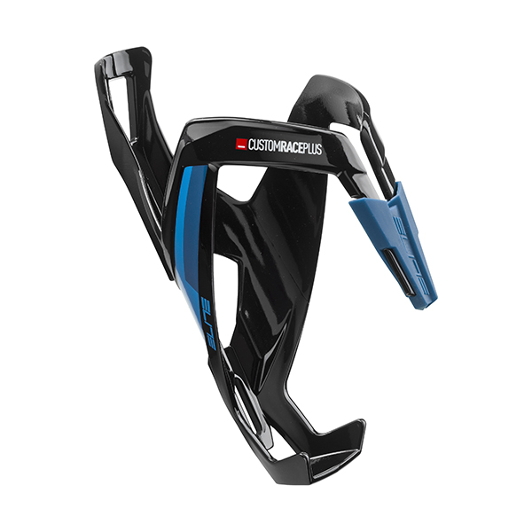 Elite  Bottle Cage Custom Race+ Noir Glossy. Bleu graphic