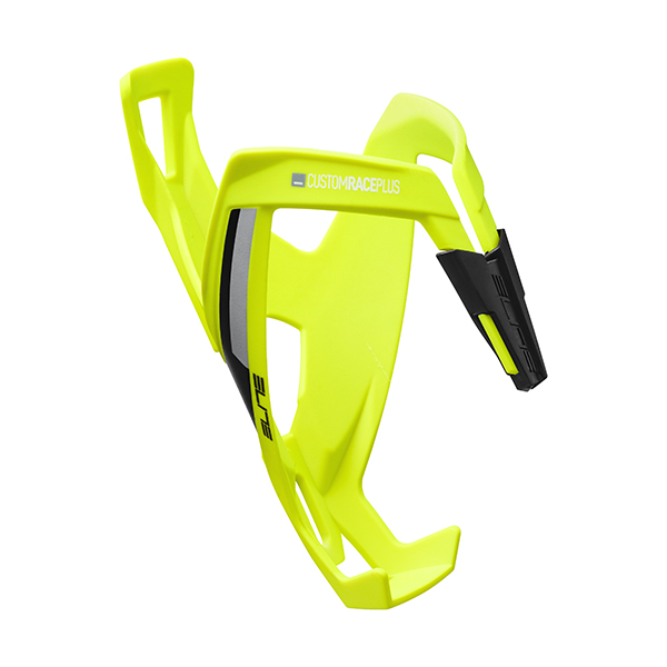 Elite  Bottle Cage Custom Race+ Jaune Fluo. Noir graphic